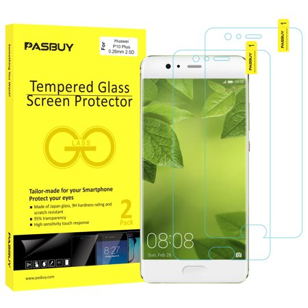 PASBUY 2 Pack [Japan Glass]Super Thin 0.26mm Premium Tempered Glass Film Screen Protector-Retail packing for Huawei P10 Plus](huawei p10 plus screen protector)