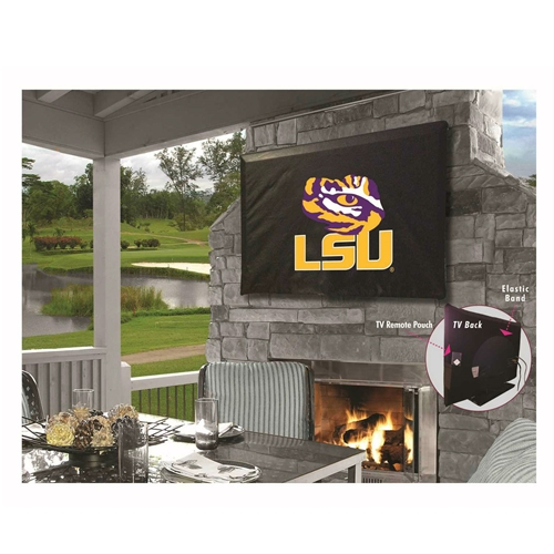 NCAA TV Cover by Holland Bar Stool, 50''-56'' - LSU Tigers