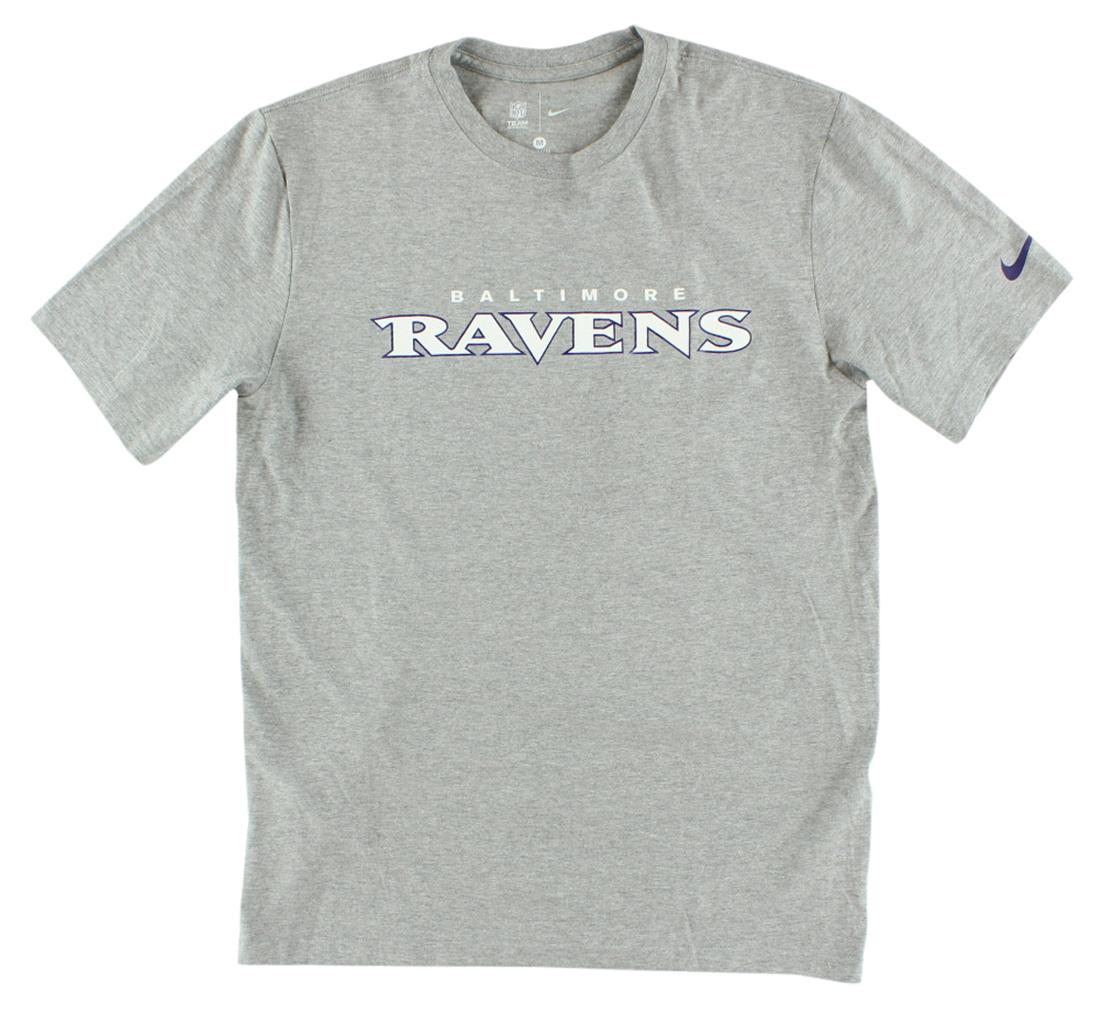 Nike Mens Baltimore Ravens NFL Fast Wordmark T Shirt Grey M