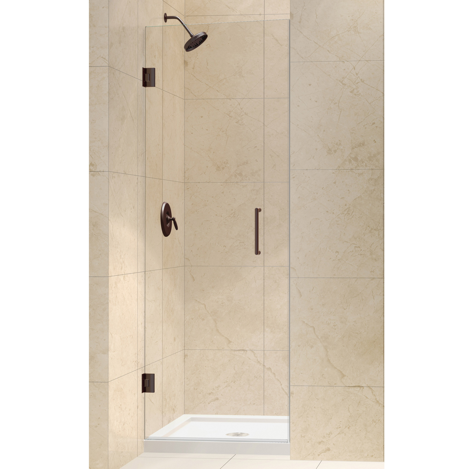 DreamLine Unidoor 24-inch Frameless Hinged Shower Door - Walmart.com