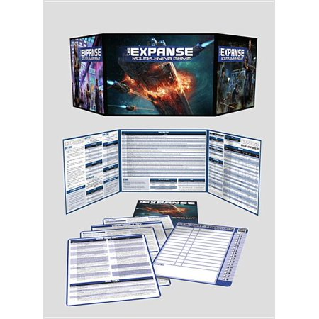 The Expanse Game Master's Kit (Hardcover) The Expanse RPG brings the universe of James S.A Corey's sci-fi novels to the tabletop. Being a GM for such a rich setting is a big job, so The Expanse Game Master's Kit is here to help. It provides a sturdy, full-color GM screen with essential