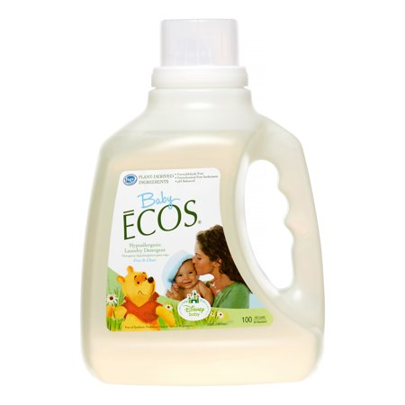 ECOS Baby Laundry Detergent, Free & Clear, 100 Loads