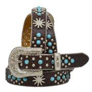 3D DA454-M Angel Ranch Ladies Belt - Brown - Medium