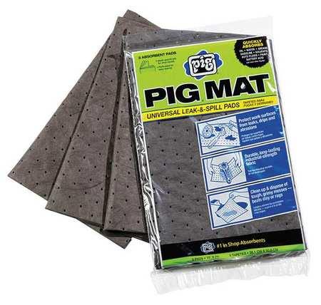NEW PIG 25306 Absorbent Mat Pad, 0.53 gal., PK3