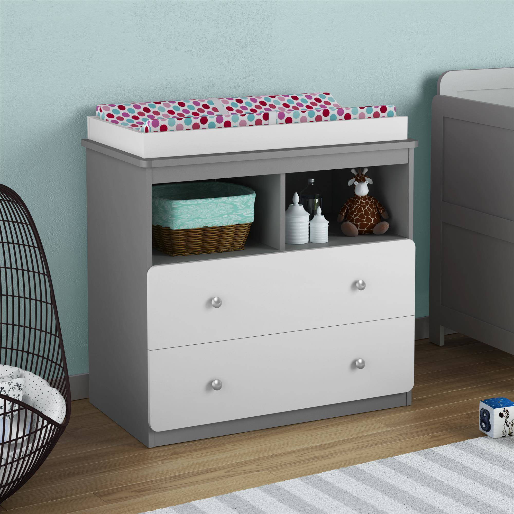 cosco willow lake changing table light slate gray and white  - cosco willow lake changing table light slate gray and white  walmartcom