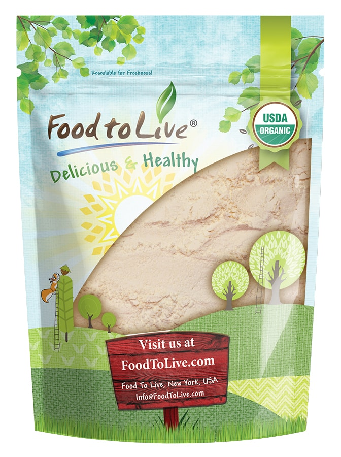 Organic Coconut Flour, 4 Pounds – Non-GMO, Kosher, Raw, Vegan, Unsweetened, Unrefined, Unsulfured Fine Powder, Bulk, Great for Baking – by Food to Live