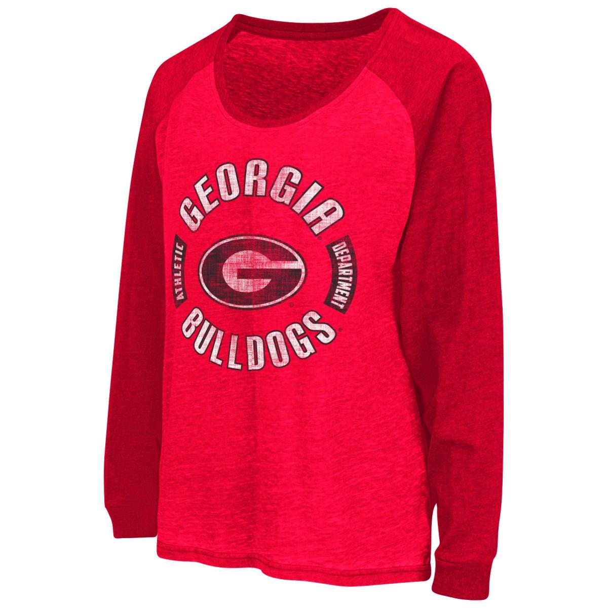 "Georgia Bulldogs Women's NCAA ""Balance"" L/S Banded Bottom Top Shirt"