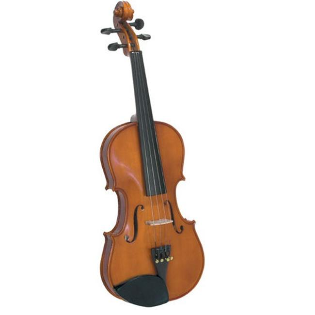 Saga SV-75 . 25 Cremona Novice . 25 Size Violin Outfit with Rosewood