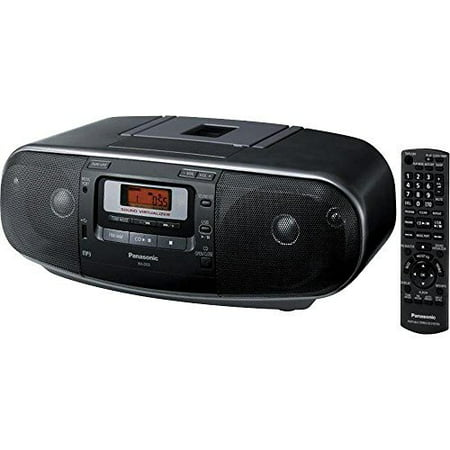 Panasonic Boombox with MP3, CD, AM  FM Radio, Cassette Recorder with USB & Music Port (RXD55GCK) by