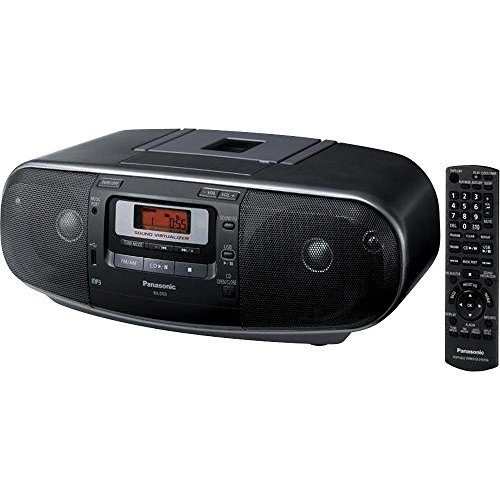 Panasonic Boombox with MP3, CD, AM/ FM Radio, Cassette Recorder with USB & Music Port (RXD55GCK)