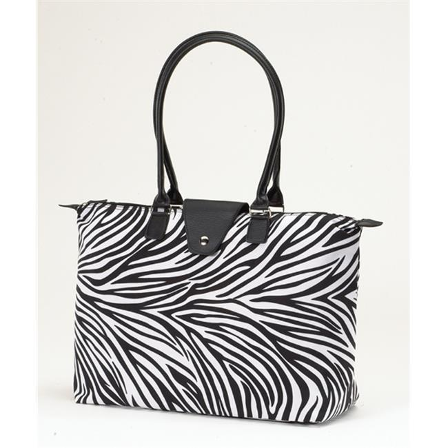 Joann Marrie Designs NF3ZEP Long Handle Fold-Up Bag - Zebra, Pack of 2