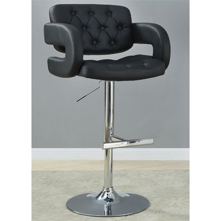 Bowery Hill Adjustable Bar Stool in Black and Chrome - image 1 de 2