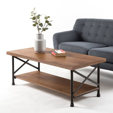 Zinus Rafat Industrial Style Coffee Table Walmart Com