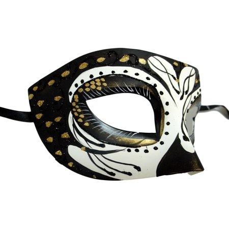 Cronos Gold Black Day of the Dead Style Masquerade Mardi Gras Halloween - Halloween Gangnam Style