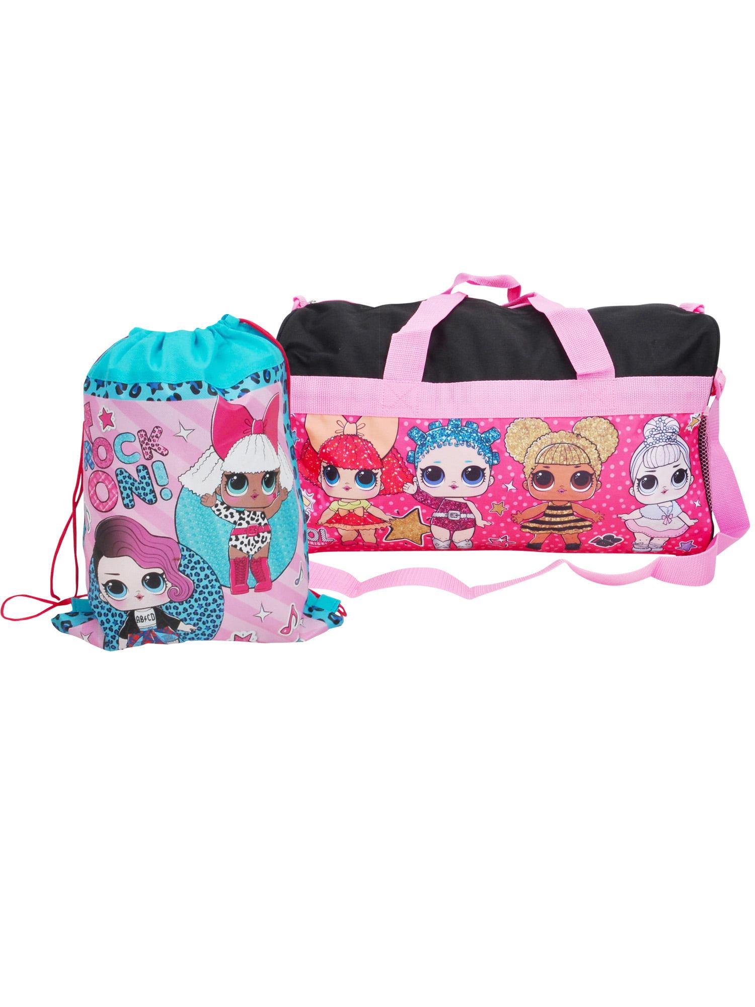 87c1f1a382 Girls LOL Surprise Duffel Bag Black   Sling Bag 2-Piece - Walmart.com