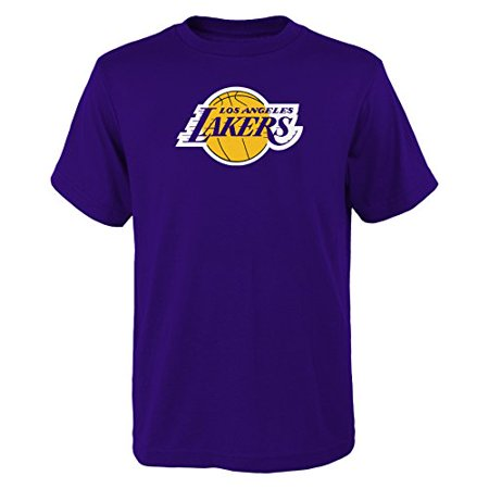 YOUTH Los Angeles Lakers NBA primary logo T Shirt Purple S for $<!---->