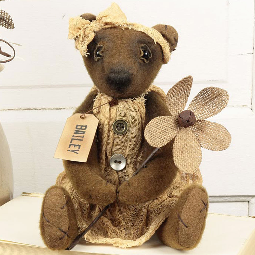 Small Vintage Sitting Bailey Bear