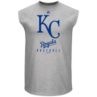 Kansas City Royals Majestic Game Fundamentals Muscle Tank Top - Heathered Steel