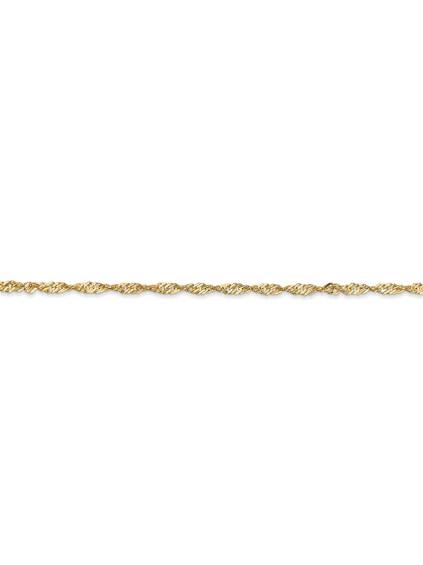 14K White Gold 1.7 Singapore Chain in 16 inch 24 inch 18 inch 20 inch