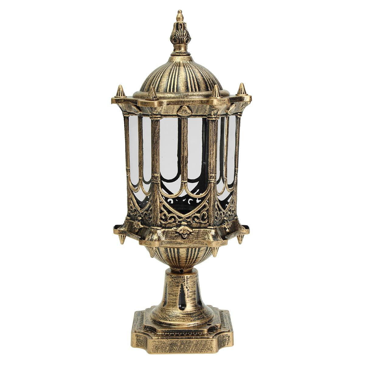 Asewin Garden Light, Outdoor Garden Outside Wall Light Lamp Post Lanterns Pillar Light Porch Lighting (Bulbs Not... by