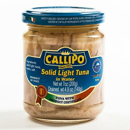 Italian Tuna in Spring Water in Glass Jar by Callipo - Adorable In Italian