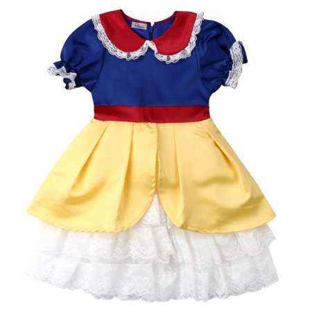 Styles I Love Toddler Girls Snow Princess Dress Halloween Costume Birthday Cosplay Events Outfit (110/4-5 Years) - Cosplay Outfit