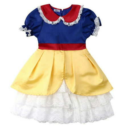 Styles I Love Toddler Girls Snow Princess Dress Halloween Costume Birthday Cosplay Events Outfit (110/4-5 Years)](Halloween Birthday Girl)