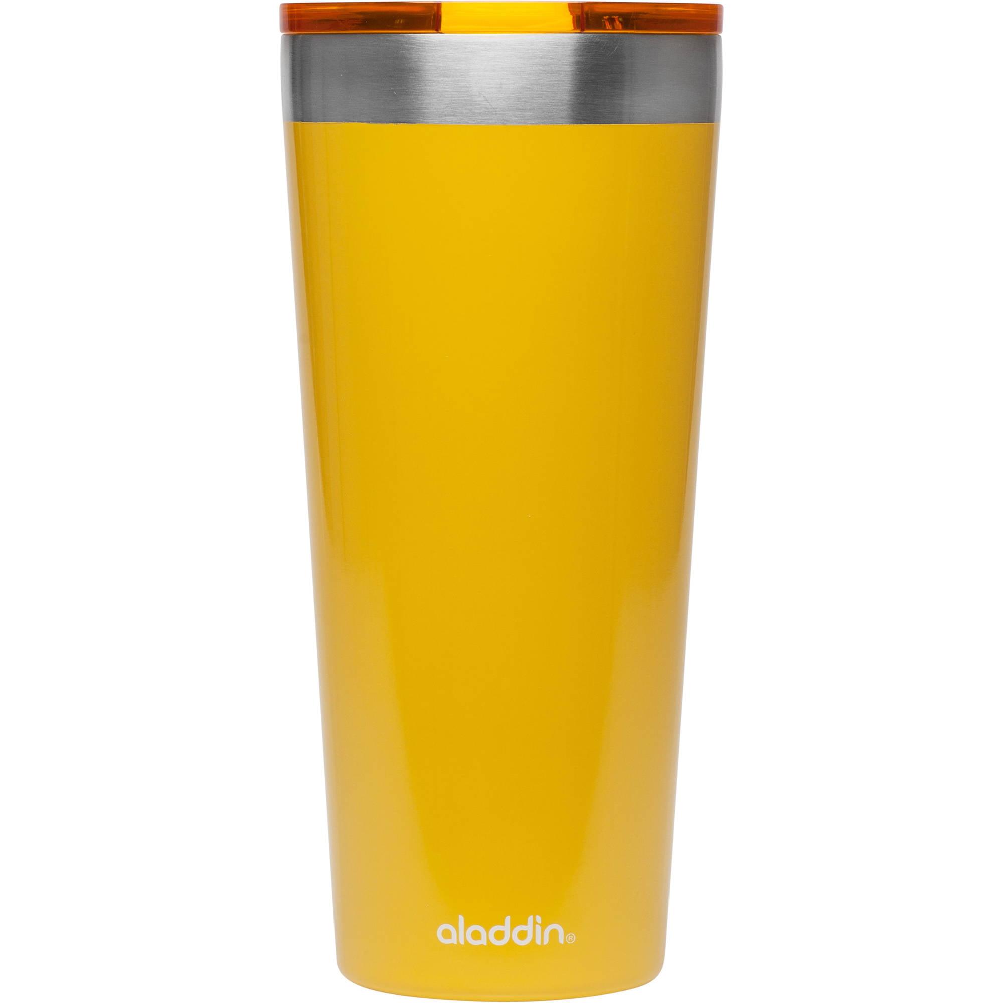05c6898e928 Aladdin 30 Ounce Stainless Steel Vacuum Yellow Tumbler - Walmart.com