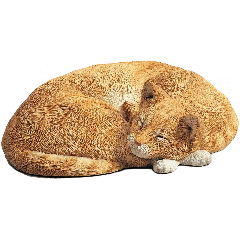 """Sandicast """"Life Size"""" Lying Orange Cat"""