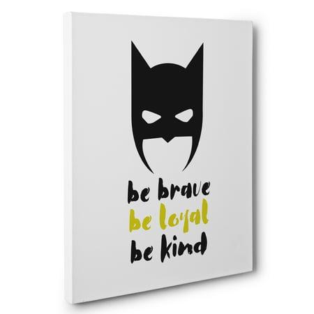 Superhero Be Brave Man Cave Canvas Wall Art ()