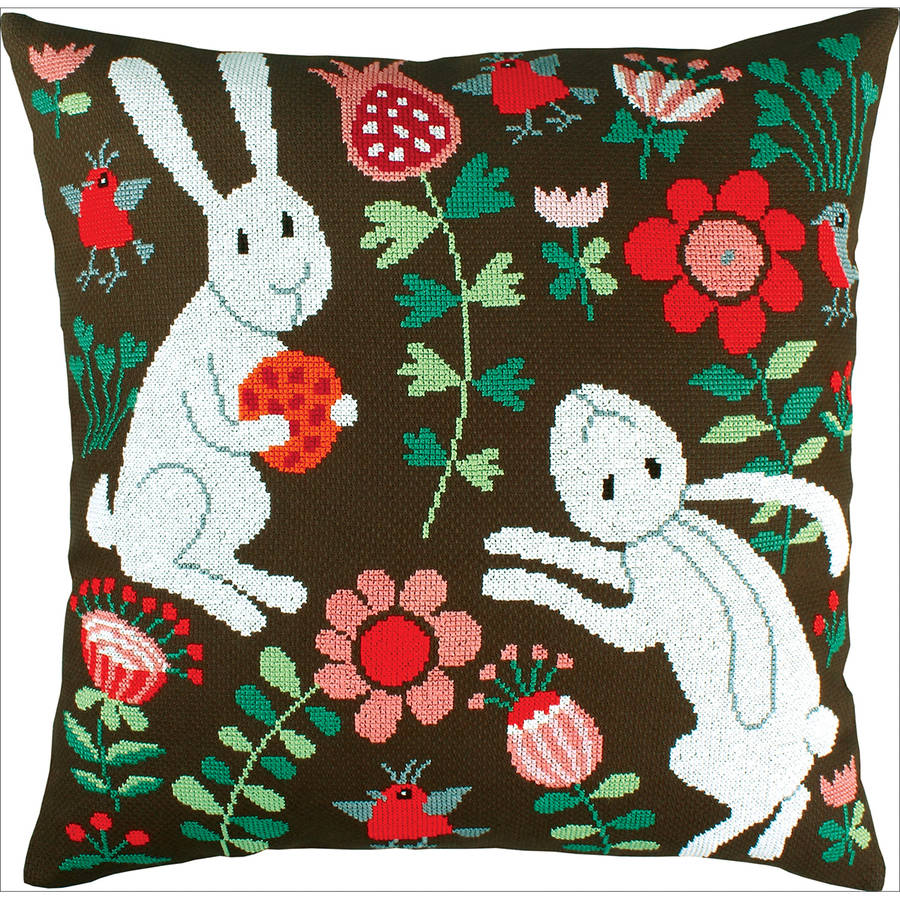 """Pillow Fairy Tales Counted Cross Stitch Kit, 17.25"""" x 17.25"""" 11 Count"""
