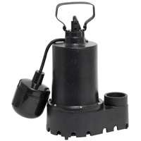 Superior 92331 High Capacity Sump Pump, 46 gpm, 1/3 hp, 120 V, Cast Iron 1-1/2 in Outlet, 25 ft Maximum Head