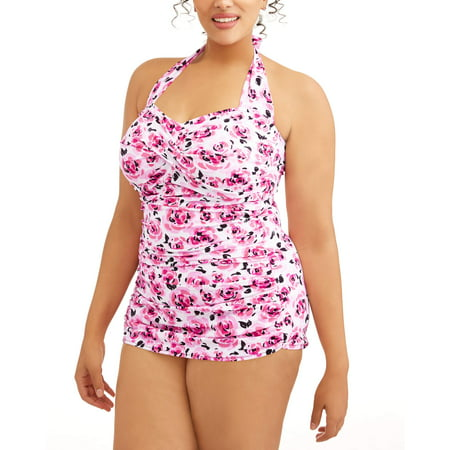Assura Pediatric One Piece (Women's Plus-Size Slimming Shirred Glam Sheath One-Piece Swimsuit )