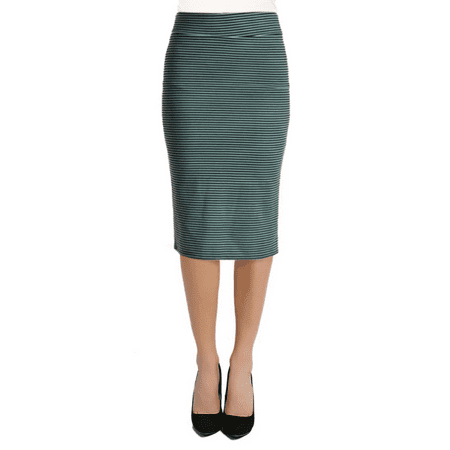 24fe69b4e3b1 Simlu - Women's Below the Knee Pencil Skirt for Office Wear - Made in USA -  Walmart.com