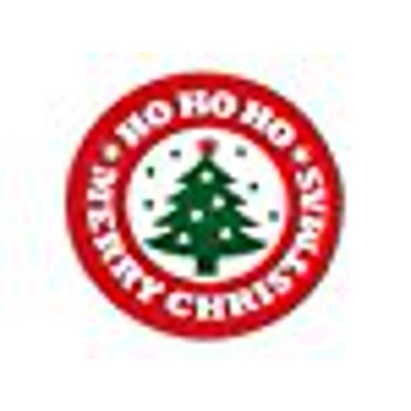 A1BakerySupplies Christmas Seals And Labels - Merry Christmas Tree Seals 1.5