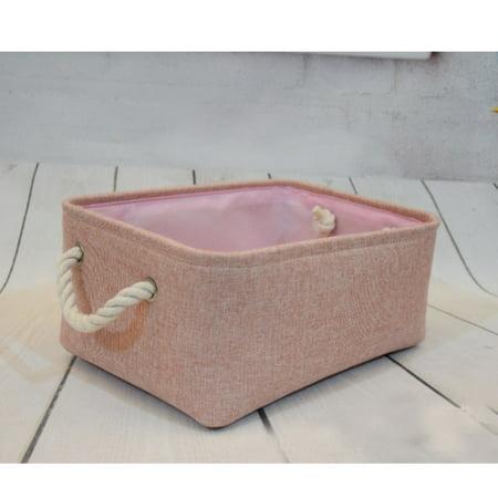 Decorative Basket Rectangular Fabric Storage Bin Organizer