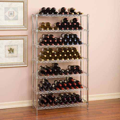 Seville Classics 7-Tier 168 Bottle Wine Rack, SHE16473Z