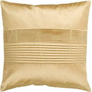 "18"" Champagne Yellow Tuxedo Pleated Decorative Throw Pillow"