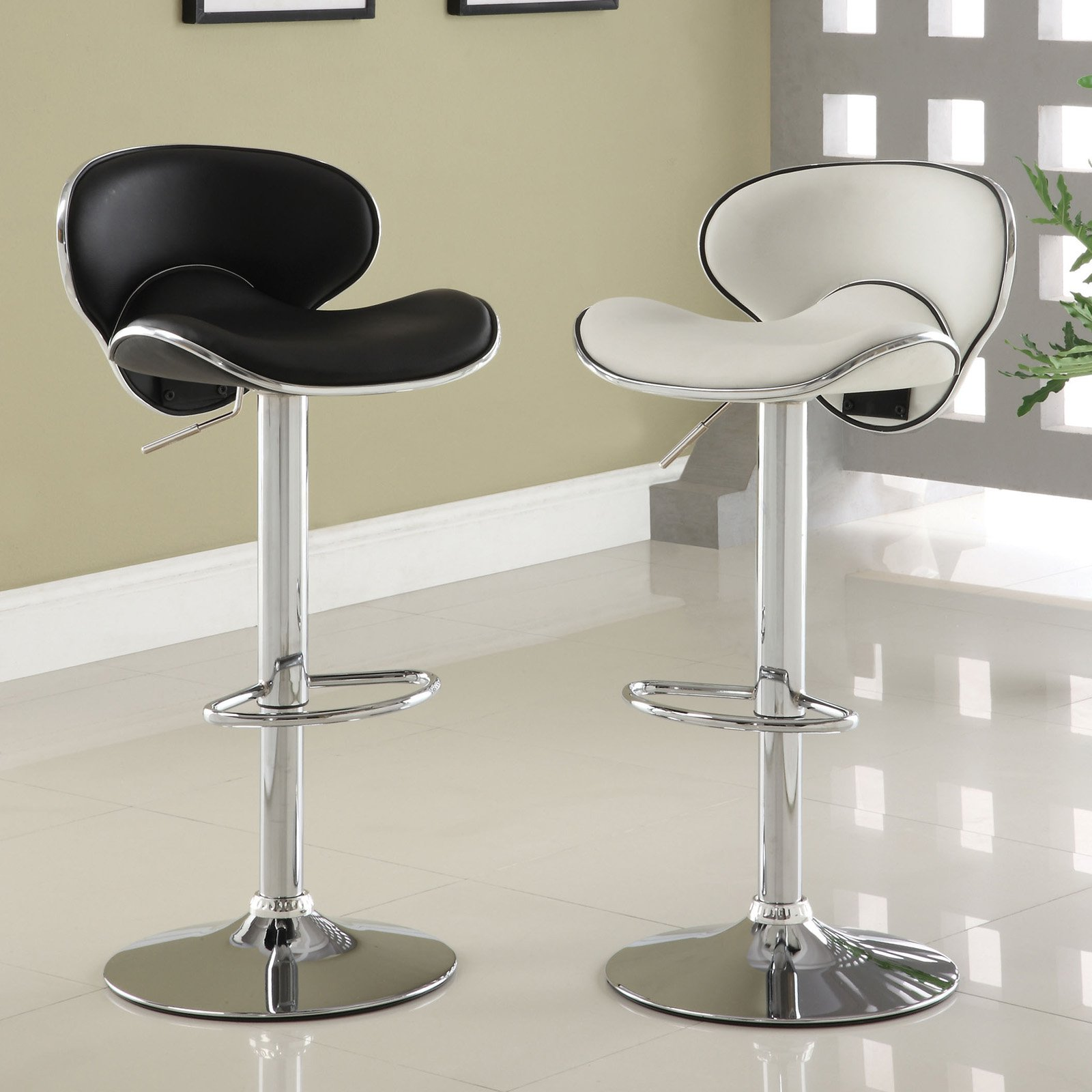 Furniture of America Ashtra Adjustable Height Bar Chair