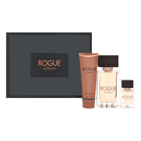 Rogue by Rihanna for Women 3 Piece Set Includes: 4.2 oz Eau de Parfum Spray + 0.5 oz Eau de Parfum Spray + 3.0 oz Body Lotion