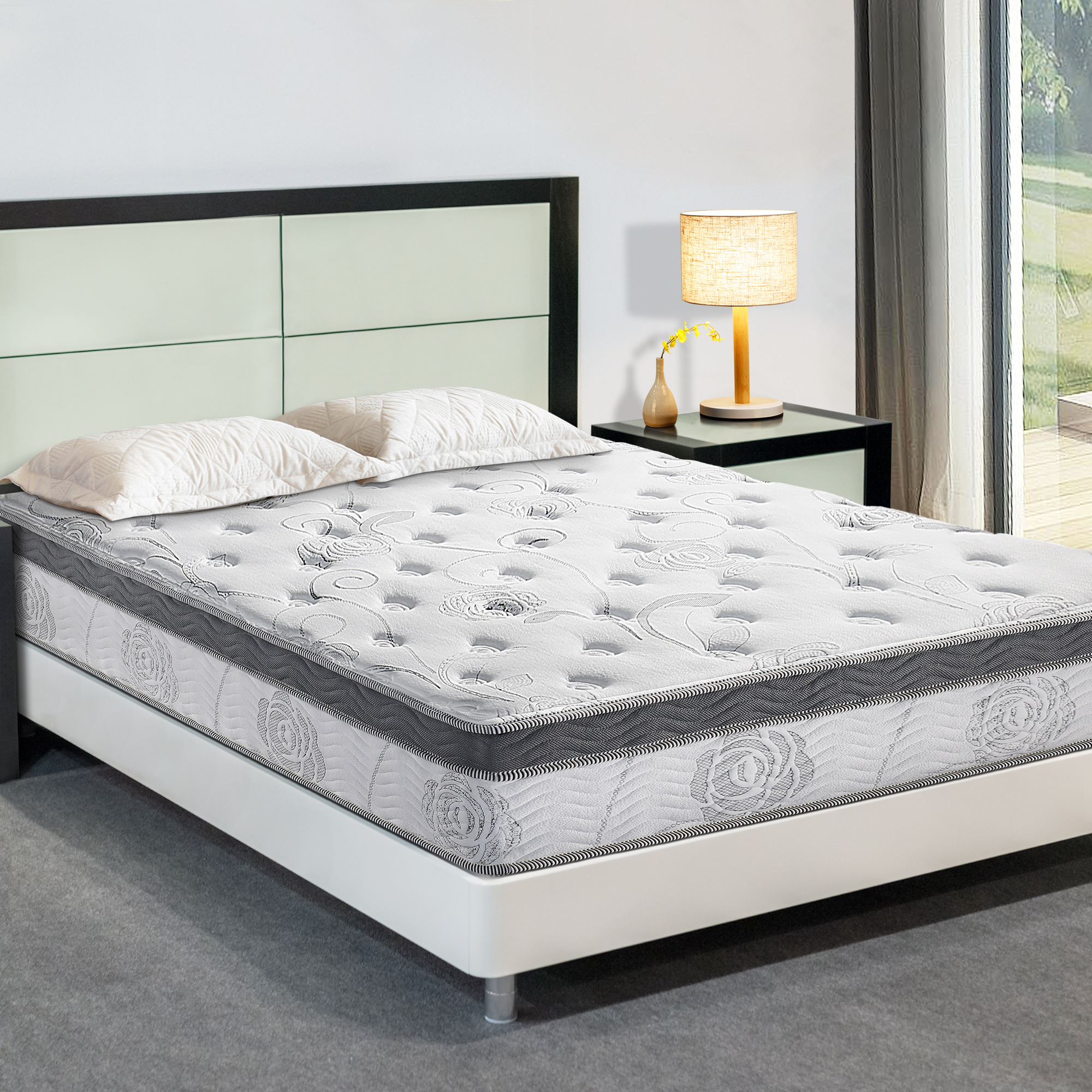 "GranRest 13"" Spring and Pocket Gel Memory Foam Mattress"