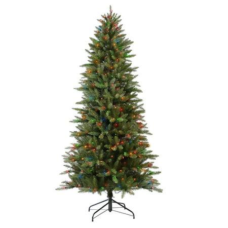 Pre-lit Slim Fraser Fir Artificial Christmas Tree with 800 - Puleo International 9 Ft. Pre-lit Slim Fraser Fir Artificial