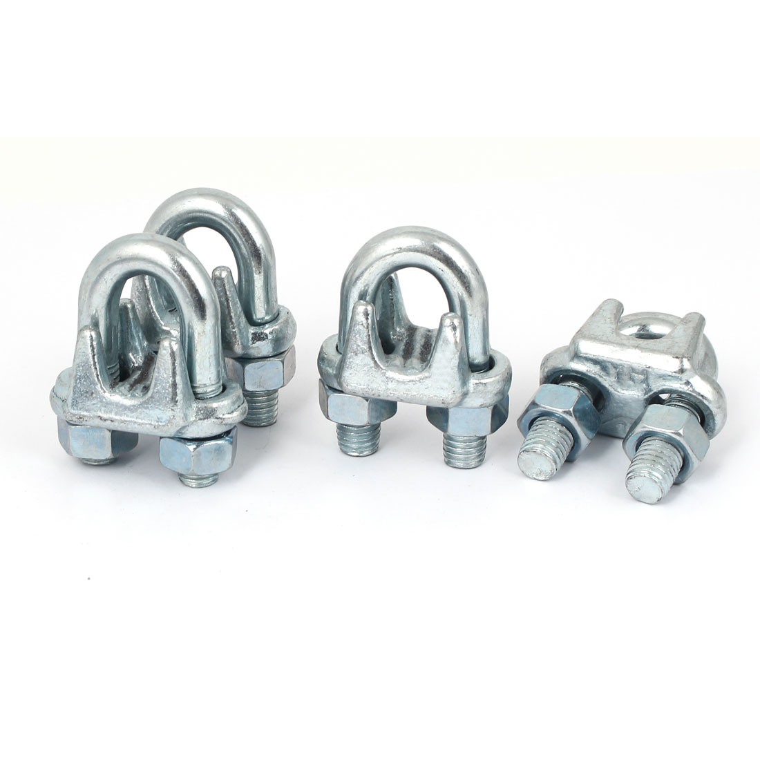Unique Bargains 15mm Inner Width Stainless Steel Wire Rope Cable Clip Saddle U Clamps 4 Pcs