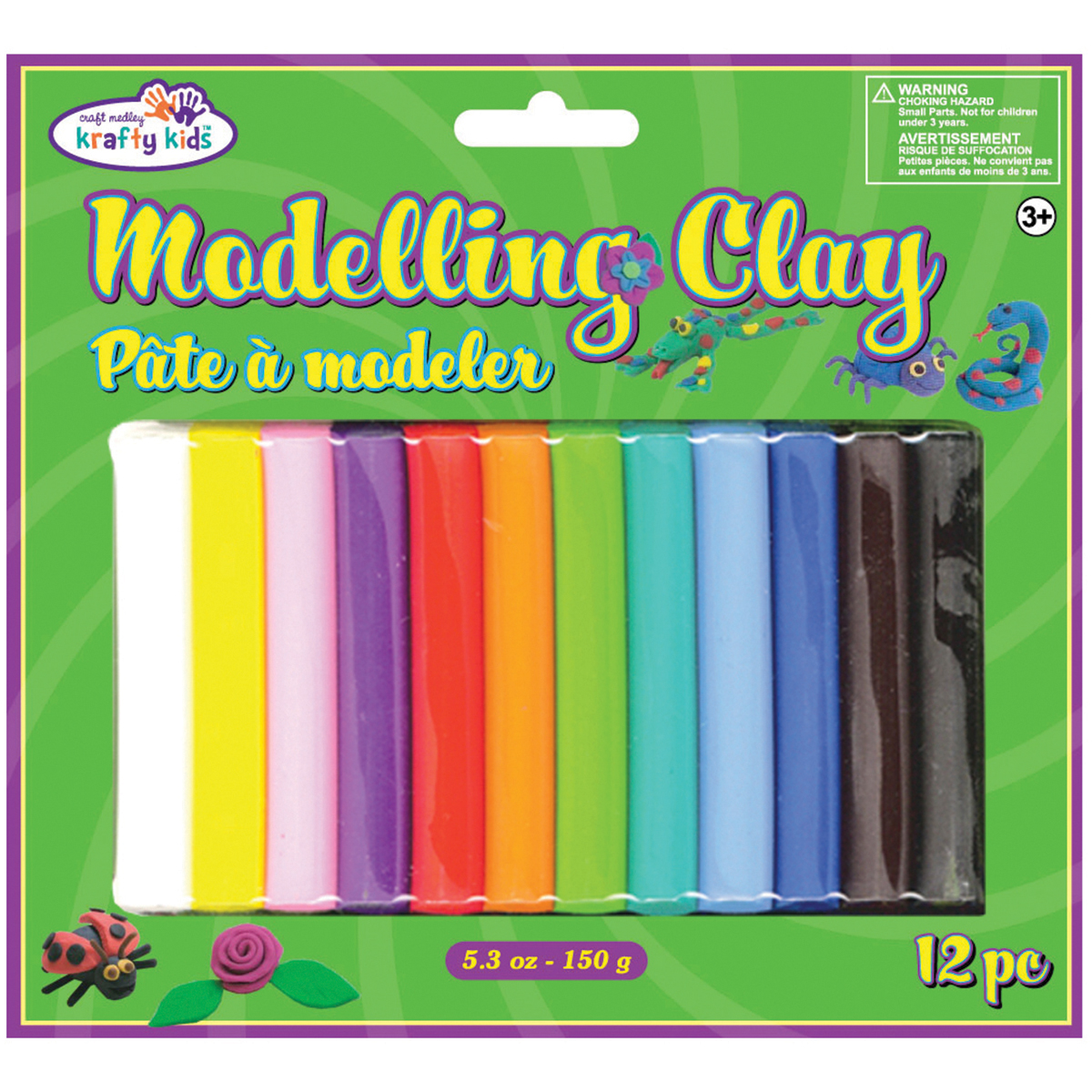 Modeling Clay 150g 12/Pkg-Assorted