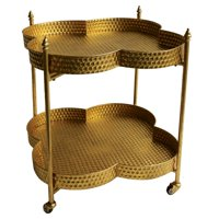 3R Studios Metal Clover Bar Cart