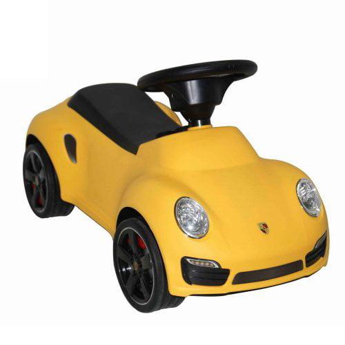 Best Ride on Cars Porsche 911 Turbo Push Car - Yellow