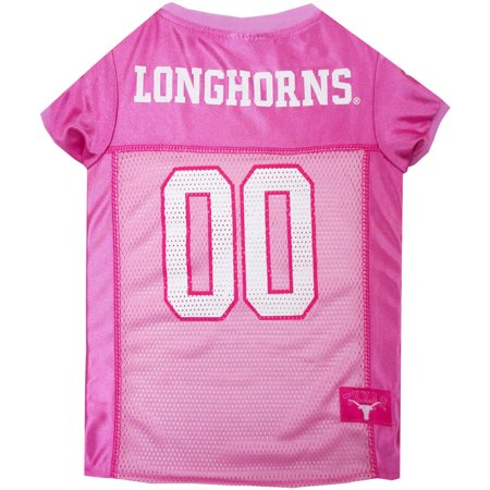 Pets First College Texas Longhorns Pet Pink Jersey, 4 Sizes Available