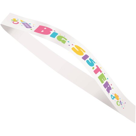 - Satin Big Sister Baby Shower Sash