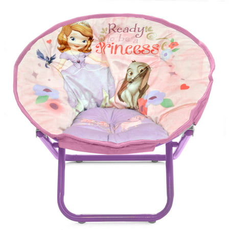 Sofia the first mini saucer chair for Toddler mini chair