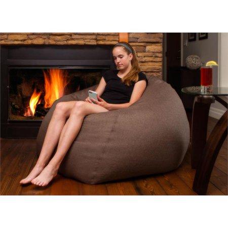 (Set of 2) Bean Bag Chair in Brown - image 2 of 4